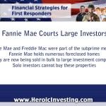 Fannie Mae Changes the Foreclosure Market