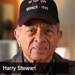 Gary Pinkerton talks to retired Lieutenant Colonel Harry Stewart, former Tuskegee Airman